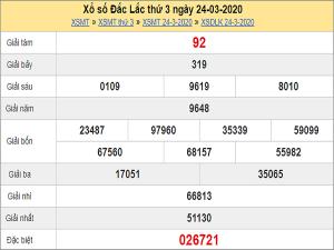 Soi cầu xổ số Đắc Lắc 31/3/2020, chốt số dự đoán kqxs hôm nay