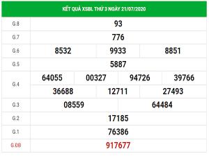 Soi cầu bạch thủ KQXSBL- xổ số bạc liêu ngày 28/07/2020