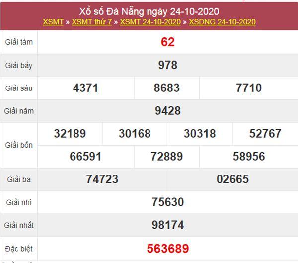 Soi cầu KQXS Đà Nẵng 28/10/2020 thứ 4 siêu chuẩn xác