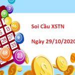 Soi cầu XSTN 29/10/2020 – Soi cầu xổ số Tây Ninh ngày thứ 5 chuẩn nhất