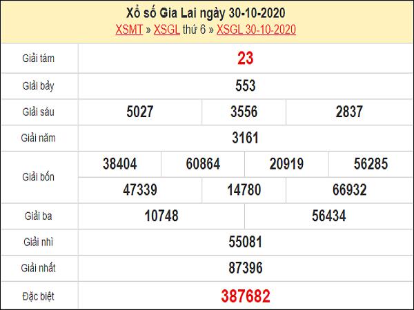 Soi cầu KQXSGL ngày 06/11/2020- xổ số gia lai chuẩn