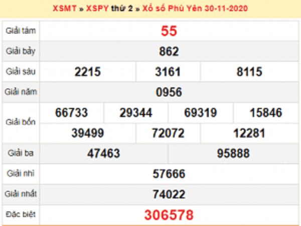 Soi cầu XSPY ngày 07/12/2020- xổ số phú yên thứ 2