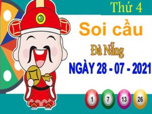 Soi cầu XSDNG ngày 28/7/2021 – Soi cầu KQXS Đà Nẵng thứ 4