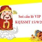 Soi cầu lô VIP KQXSMT 15/9/2021 hôm nay