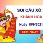 Soi cầu KQXSKH ngày 15/9/2021 chốt lô bạch thủ đài Khánh Hòa